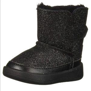UGG Keelan Glitter Genuine Shearling Boot Size 4/5